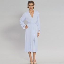 Classic, tied belt, knitted dressing gown, Allure, Coemi 162C790