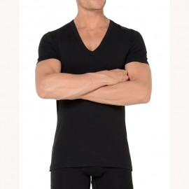 Tee-Shirt Col V, Smart Cotton, Hom, 349789