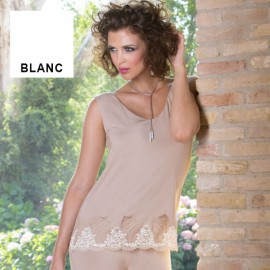 Ensemble Top Sans Manches avec Short, Cotton Club 3TL+5TL_BLA