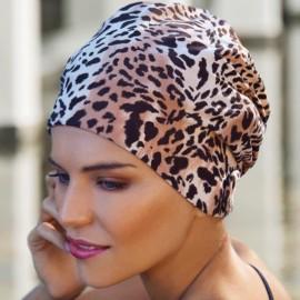 Bonnet de Bain, Leopard, Fashy 3456
