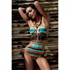 Swimsuit 2P, Monokini with paillettes and fringe decorations, Vacanze Italiane 6520VE