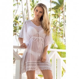 V neck kaftan with deep V neckline Coton, Iconique 641KB