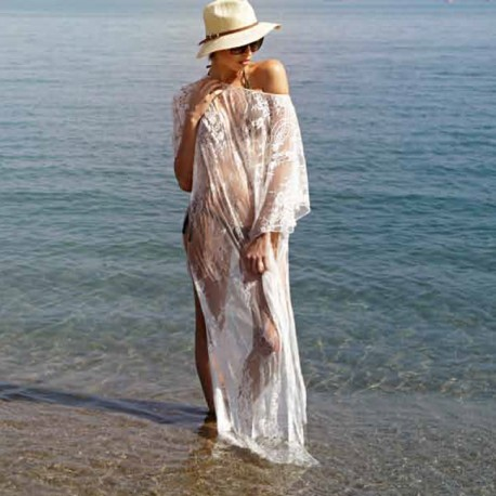 Robe Longue Manches Courtes , Lux, Dana LUX/LA1653_NA