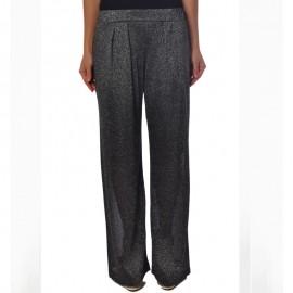 Pantalon Lurex Noir Argent, Twin-Set BS6LRR