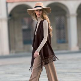 Sleeveles Jacket, Wool & Silk, Flat Link, Oscalito 8254