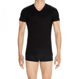Tee-Shirt Col V Manches Courtes, Classique, Hom 400206