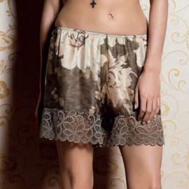 Pyjama Manches Longues Soie avec Short, Twin Set LA6KFF