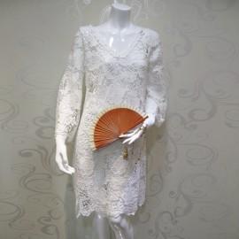 Dress Macramé Short Sleeves, Mariana Marchesini ANTIGUAMARE