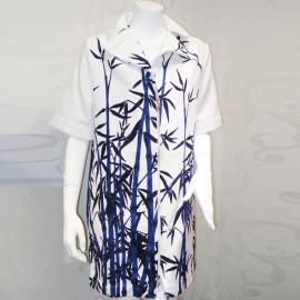 Jackets Zip Sleeves 3/4, Stampa Bambou, Luna Di Giorno SB2421