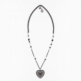 Collier, Perle et Coeur, Twin-Set LA4Z11