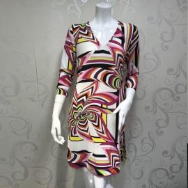 Short Dress Sleeves 3/4 en Soie, Domani 1307