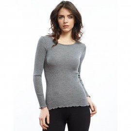 Pull Manches Longues Laine & Soie, Oscalito 3446R_261