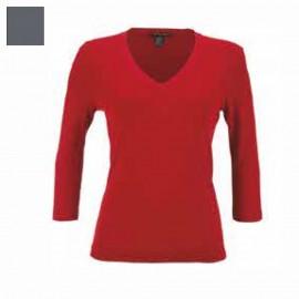 Sweater Merinos Wool & Silk 3/4 Sleeves V-Collar, Artimaglia 28203