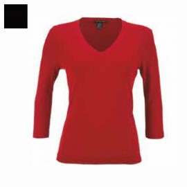 Sweater Merinos Wool & Silk 3/4 Sleeves V-Collar, Artimaglia 28203
