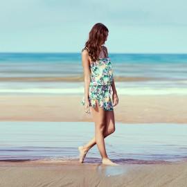 Short Beach Dress with Straps, Gisela, Nuria Ferrer 8367