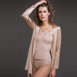 Top Bretelle 100% Soie Plissé, Artimaglia 37701