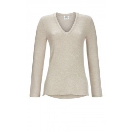 Sweater Chiné Col V, Solo Per Me 7538402/153
