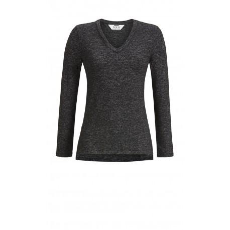 Sweater Chiné Col V, Solo Per Me 7538402/933