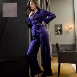 Pyjama Manches Longues & Pantalon en Soie, Soie Unique, Marjolaine 3SOI5533-0013