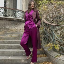 Pyjama Manches Longues & Pantalon en Soie, Soie Unique, Marjolaine 3SOI5532