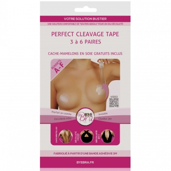 Perfect Cleavage Tape A-F 3 Paires, Bye Bra 9850