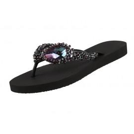 Sandal Shoes, Precious DeLuxe, Uzurii PRECIOUSDELUXE-NOIR