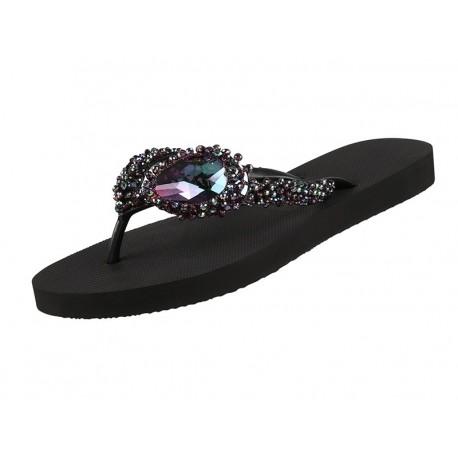 Chaussures Sandales, Precious DeLuxe, Uzurii PRECIOUSDELUXE-NOIR