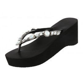 Sandal Shoes, Marlyn High Heel, Mid Heel, Uzurii MARLYN-HH-NOIR