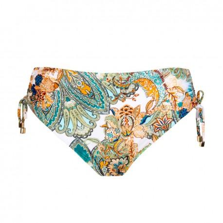 Swimsuit slip adjustable bikini classic with ties, Cashmere Evasion, Lise Charmel ABA0698