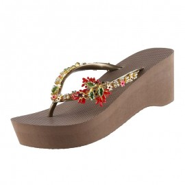 Chaussures Sandales, Passion Flower Taupe, High Heel, Uzurii PASSFLWRHH