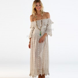 Robe Longue Dentelle et Crochet, Sana Catarina, Always The Sun, OH18-90C