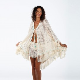 Veste Crochet Franges et Miroirs, Bondi, Always The Sun, OA18-44N