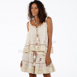 Jupe Courte Broderie Anglaise, Carmel, Always The Sun, OA18-03N
