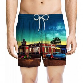 Boxer Trunks for men, Zeybra Portofino, Vintage AUB856