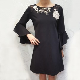 Long Sleeves Dress, Raffaela d'Angelo RD9ABF154-NRO
