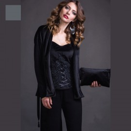 Long Sleeved Jacket Wool & Silk, Velvet, Artimaglia 69604-100