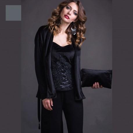 Long Sleeved Jacket Wool & Silk, Velvet, Artimaglia 69604-100