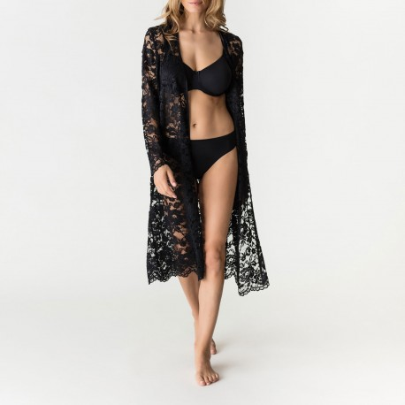 Kimono Soie Naturelle Longue, Soie Belle, Prima Donna, 0862962-ZWA