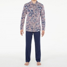 Long Sleeved Pajamas Trousers, Botanic, Hom 401031