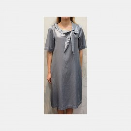 Short Sleeves Dress, Seta Cotone, Luna di Giorno Home E81645-00080