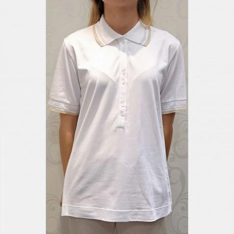 Short Sleeves Polo, Jersey Chic, Luna di Giorno Home E81662-00001