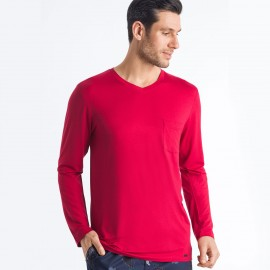 Tee-Shirt V Neck Long Sleeves, Noe, Hanro 075634-1440