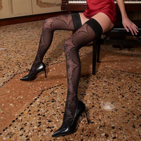 Stay-Up Stockings 60 Den, Briseide, Trasparenze BRISEIDE-AR/NERO