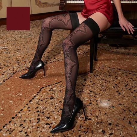 Stay-Up Stockings 60 Den, Briseide, Trasparenze BRISEIDE-AR/BORDO