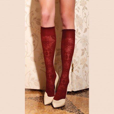 Knee-Length Stockings 60 Den, Briseide, Trasparenze BRISEIDE-GO/BORDO
