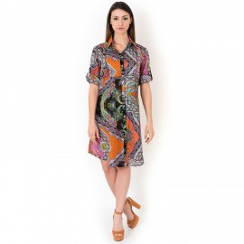 Robe Chemisier Manches Longues, Iconique IC8096-001