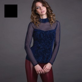 Long Sleeved Top with Funnel Neck, Artimaglia 70204 M/L