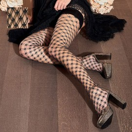 Fishnet Fancy Stay-Up Stockings, Buttercup, Trasparenze BUTTERCUP-AR-VB