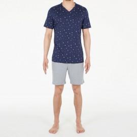 Pyjama Short 100% Coton, Brando, Hom 401210-00RA