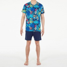 Pajamas Shorts 100% Cotton, Maitai, Hom 401227-M023